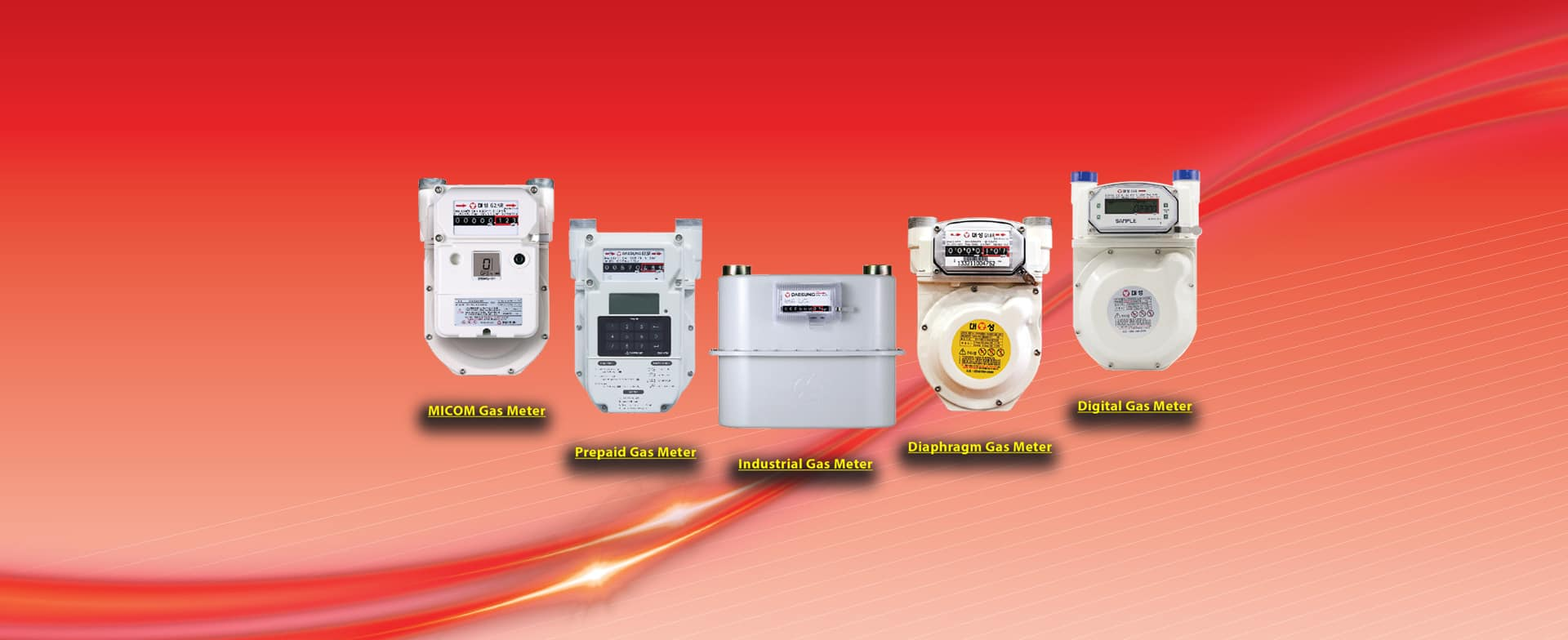list of gas meter products